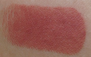 Swatch of MACs Taupe lipstick