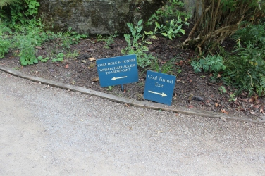 Signs for the 'Coal Tunnel'